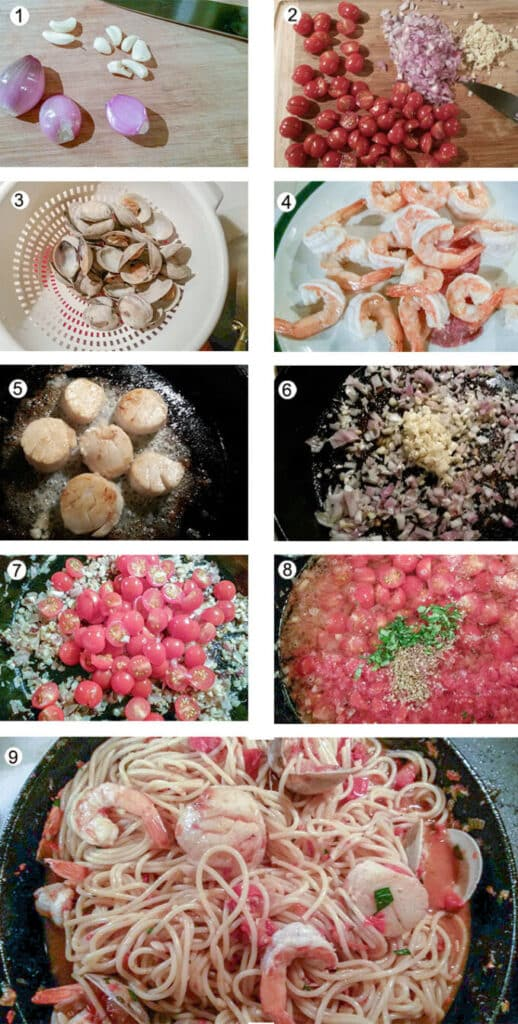 Step by step for how to make this pasta. Details in the recipe below.