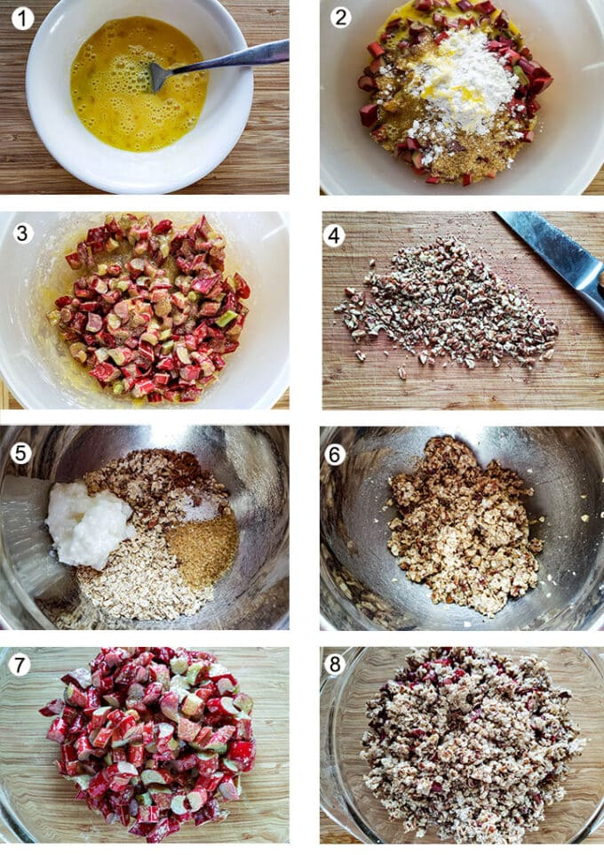 Step by photos for how to make crisp. See details in recipe below.
