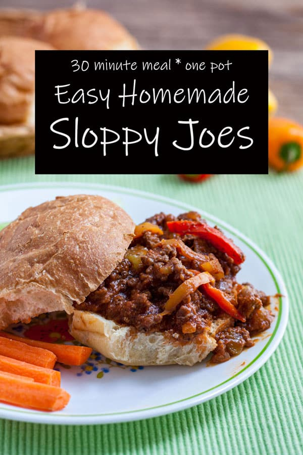 Sloppy Joes Pinterest image with text overlay