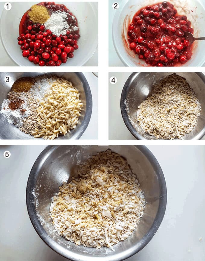 Step by photos for making crisp. See details in recipe below.
