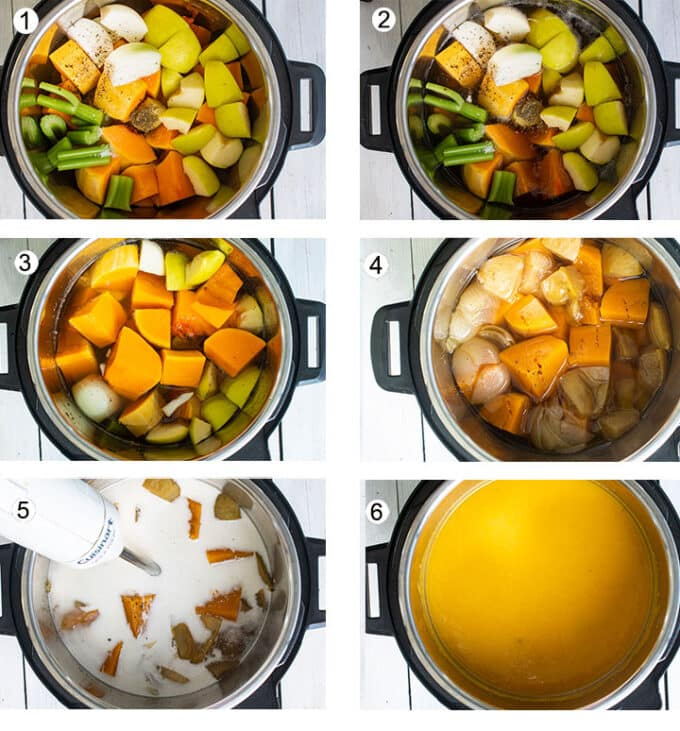 Step by step process photographs for instant pot. See details below.