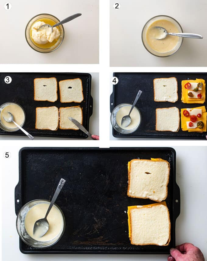 Step by step process photographs. See details in recipe below.