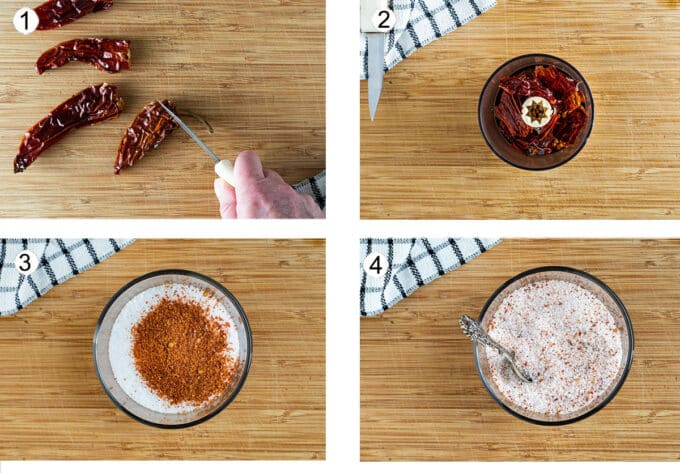 How to make spicy salt step by step photos. See details in recipe below.