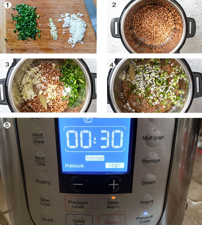 Instant pot instructions. See recipe below for details.
