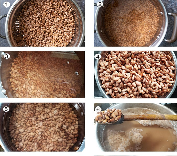 How to cook the beans step by step process photos. See details in recipe below.