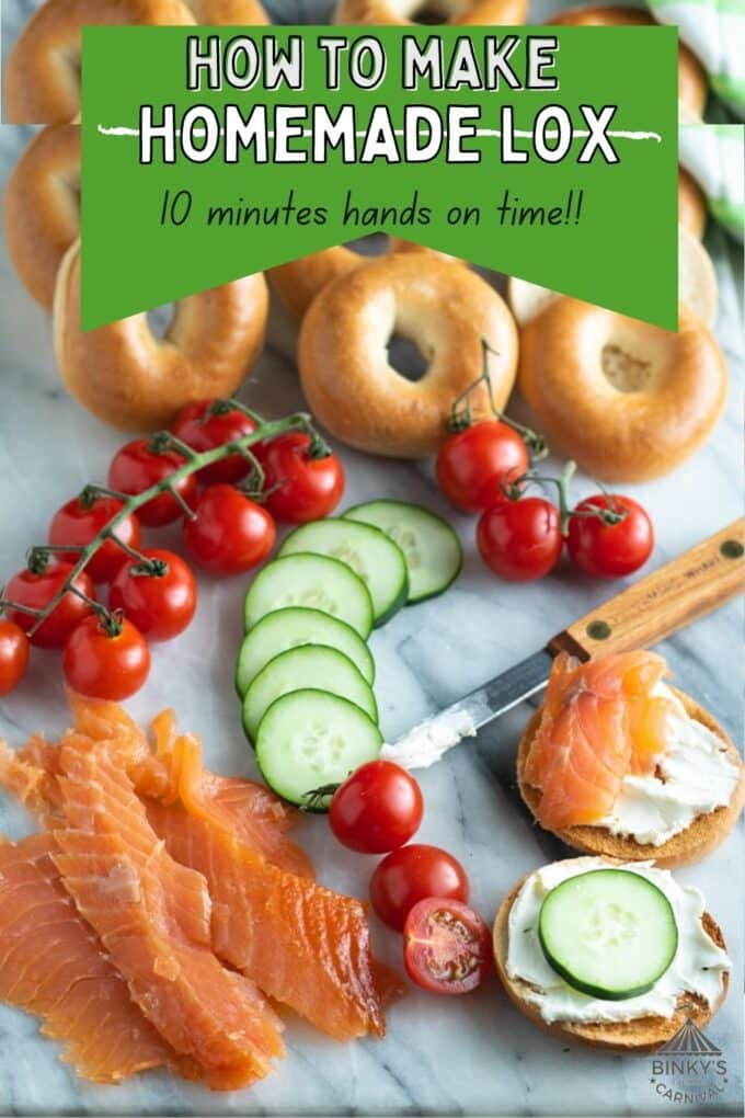 How to make lox Pinterest Pin with text overlay