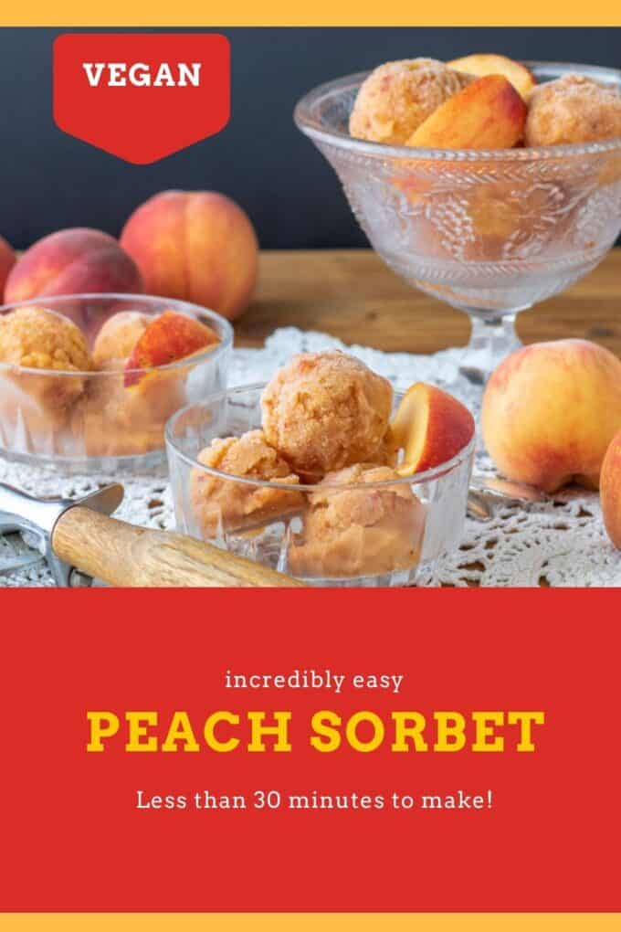 Peach Sorbet Pinterest Pin with text overlay