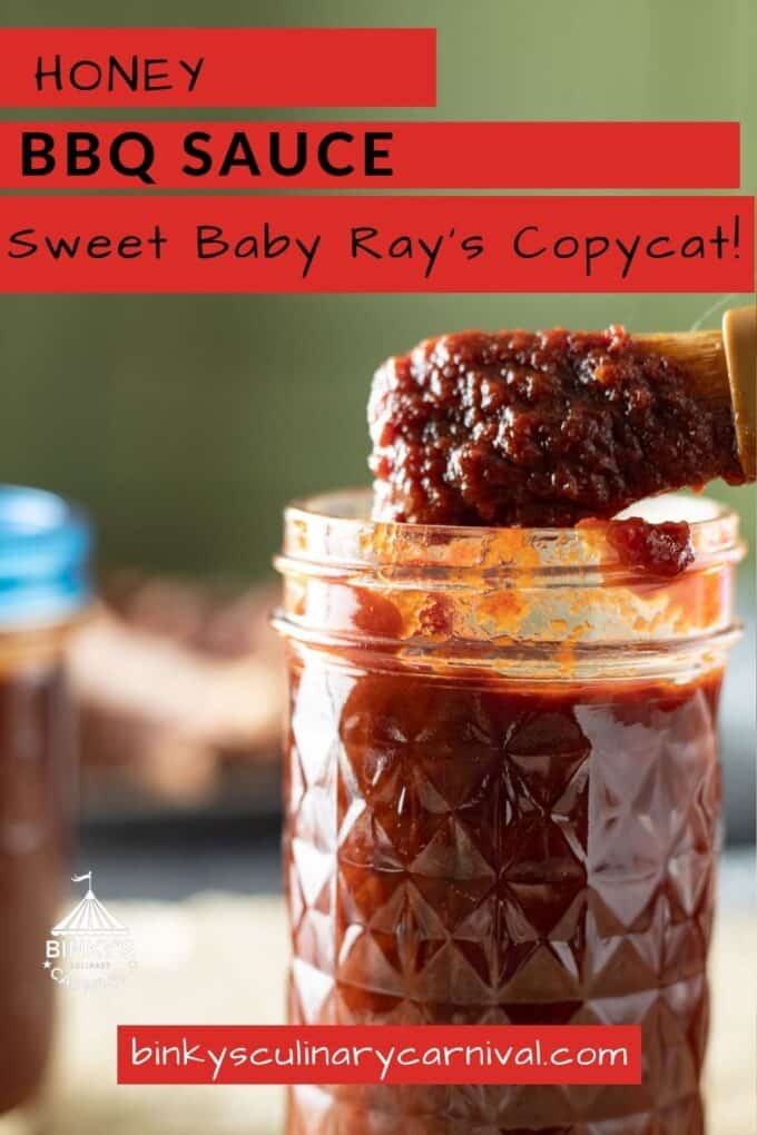 Honey BBQ Sauce Pinterest Pin with text overlay